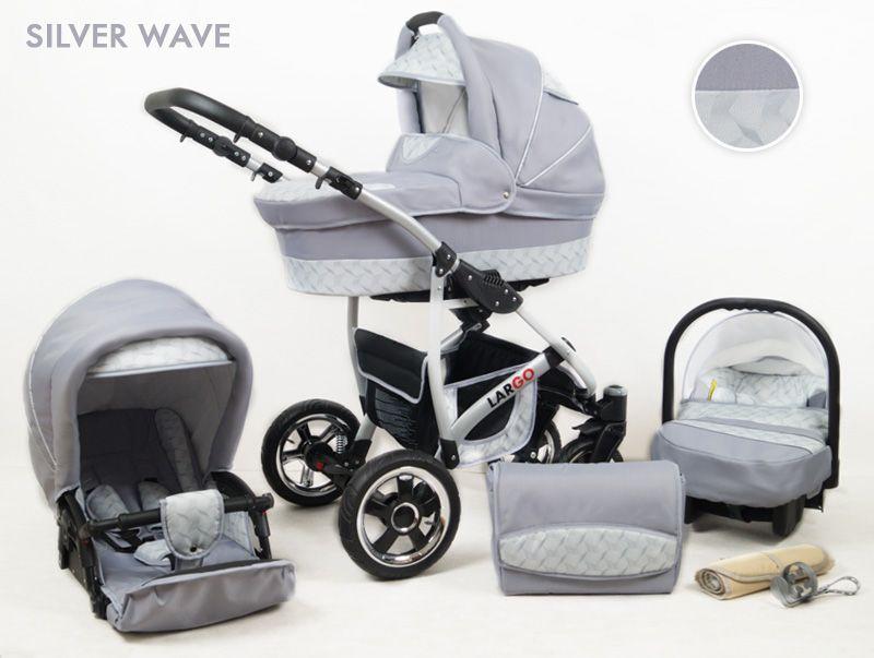 Raf-pol Baby Lux Largo 2021 Silver Wave + u nás ZÁRUKA 3 ROKY