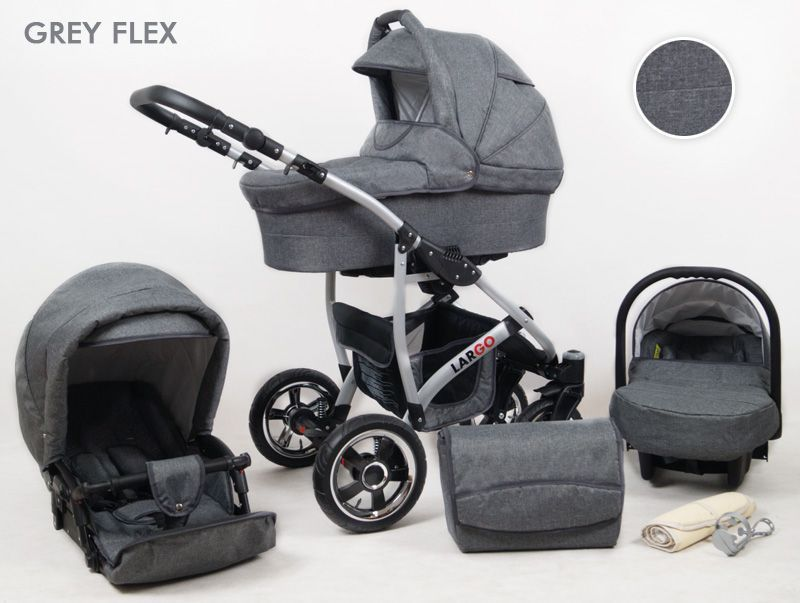 Raf-pol Baby Lux Largo 2020 Grey Flex + u nás ZÁRUKA 3 ROKY