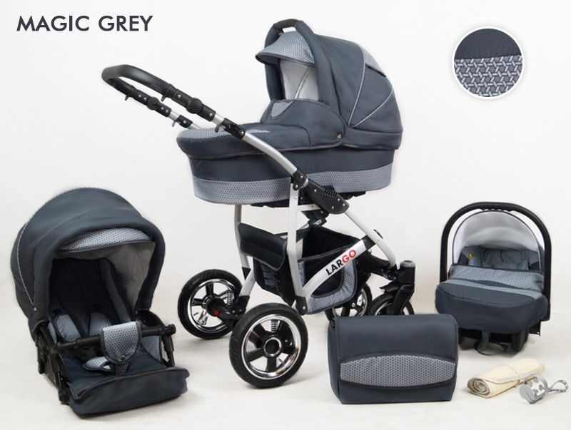 Raf-pol Baby Lux Largo 2021 Magic Grey + u nás ZÁRUKA 3 ROKY