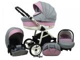Raf-pol Baby Lux Alu way 2v1 2020 Light Pink