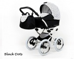 Raf-pol Baby Lux Margaret Chrome 2020 Black dots