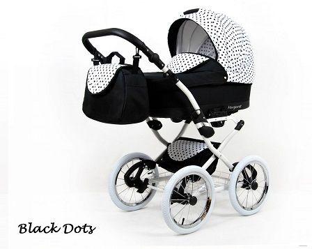 Raf-pol Baby Lux Margaret Chrome 2020 Black dots + u nás ZÁRUKA 3 ROKY