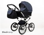 Raf-pol Baby Lux Margaret Chrome 2020 Black grey