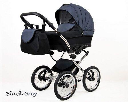 Raf-pol Baby Lux Margaret Chrome 2020 Black grey + u nás ZÁRUKA 3 ROKY