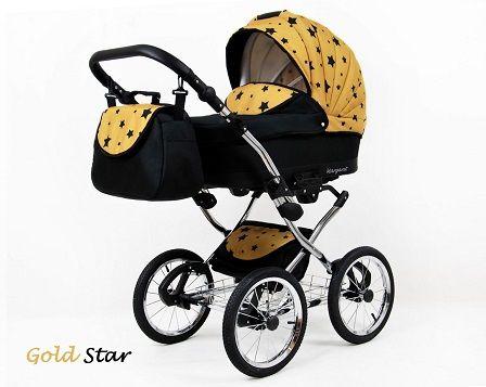 Raf-pol Baby Lux Margaret Chrome 2020 Gold star + u nás ZÁRUKA 3 ROKY