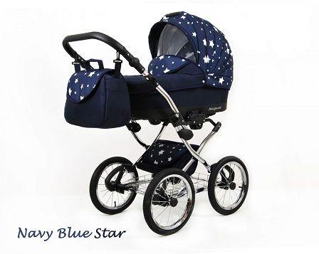 Raf-pol Baby Lux Margaret Chrome 2020 Navy blue star + u nás ZÁRUKA 3 ROKY