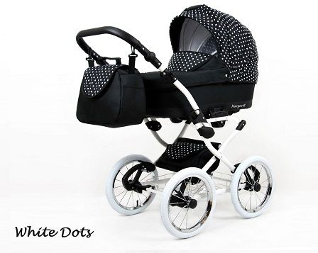 Raf-pol Baby Lux Margaret Chrome 2020 White dots + u nás ZÁRUKA 3 ROKY