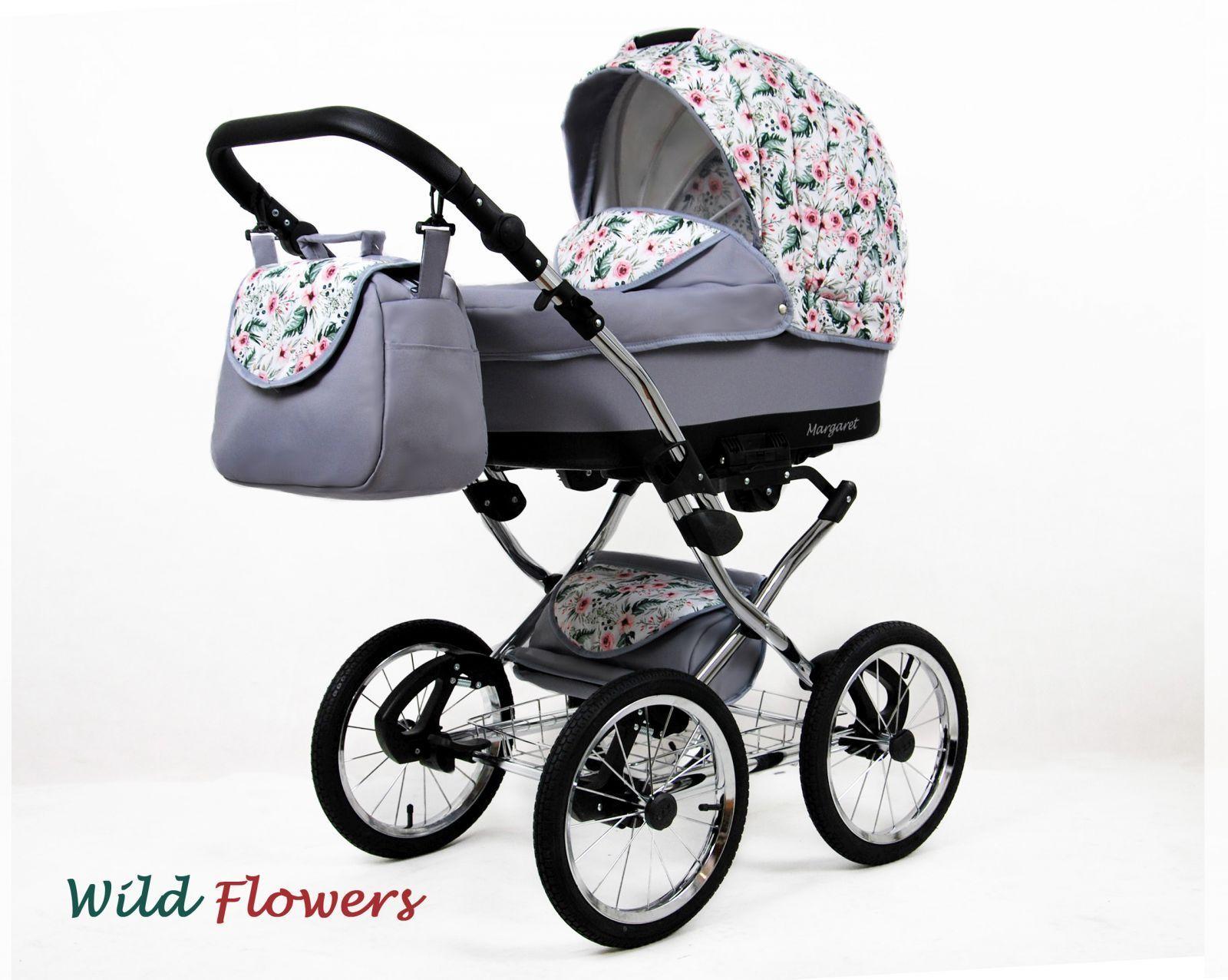 Raf-pol Baby Lux Margaret Chrome 2020 Wild flowers + u nás ZÁRUKA 3 ROKY